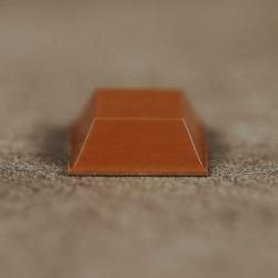 Butée polyuréthane carrée 12,7x12,7mm, ép. 5,8mm 3M SJ 5318