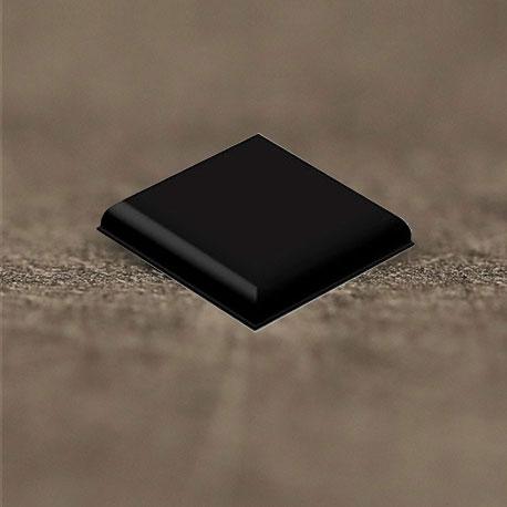 Butée polyuréthane carrée 31,75x31,75mm, ép. 6,1mm 3M SJ 5705