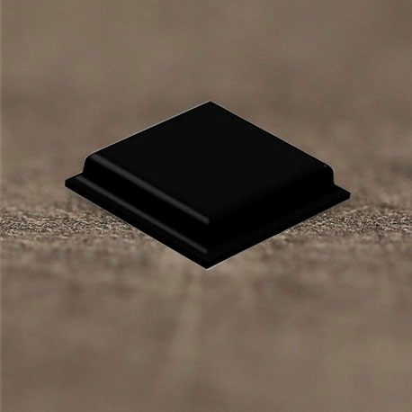 Butée polyuréthane carrée 10,2x10,2mm, ép. 2,5mm 3M SJ 5007