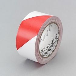 Ruban vinyle rouge et blanc 3M 767